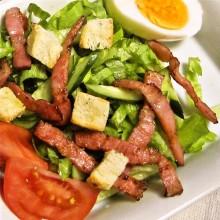ほうれん草のサラダ 簡単クルトン