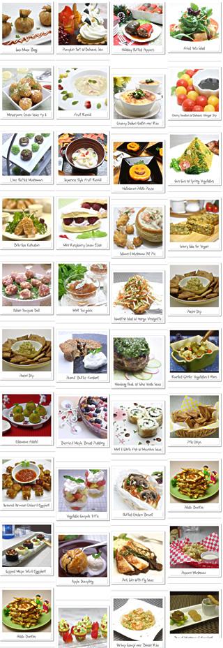 フード・クチュールの料理の数々