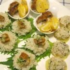 メープルシュガー使用の飾り寿司