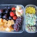 果物と冷た~いサラダ