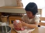 ハンバーグのタネを作る