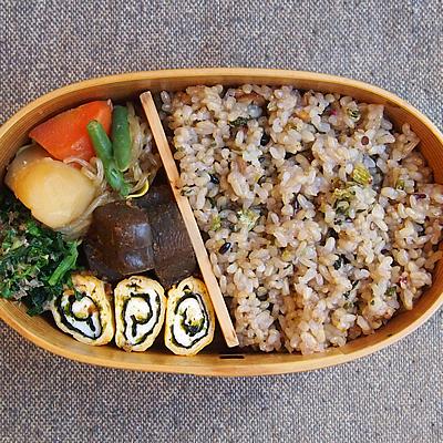 玄米ご飯をアレンジ