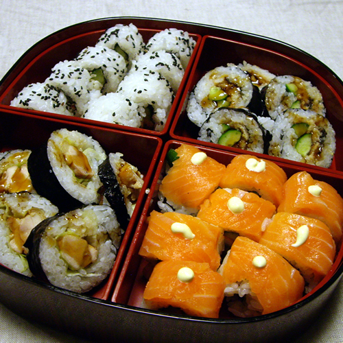 重箱の寿司たち