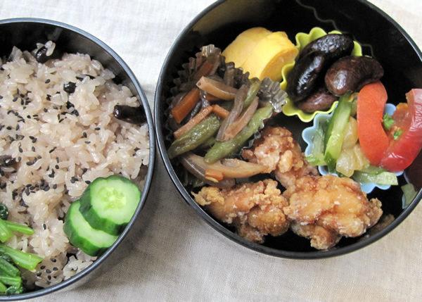 黒ささげ赤飯の弁当