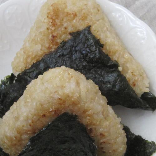 玄米の焼きおにぎり