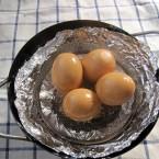 燻製ゆで卵の出来上がり