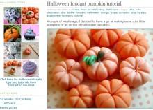 Halloween fondant pumpkin tutorial
