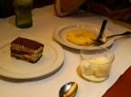 デザート/ティラミス・アイスクリーム・なぜか輪切りのパイナップル