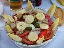 野菜サラダ(コレ、タケノコかと思った)