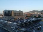 バルセロナ駅の裏側(ホテルの窓から)