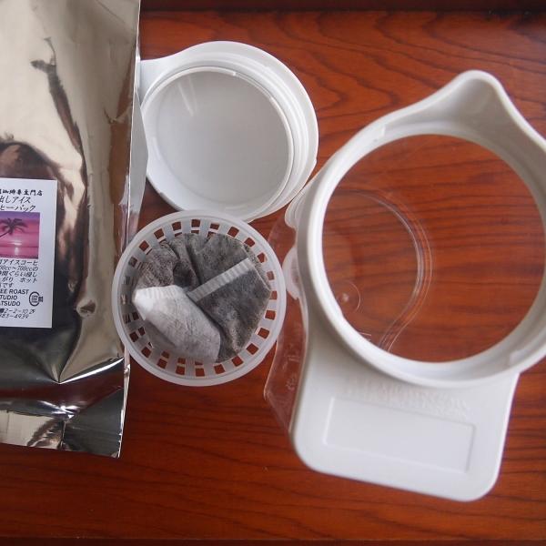 アイスコーヒーを冷水筒にセット