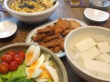 五目寿司とヒレカツ