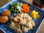 ワンプレートご飯[山菜おこわ&コロッケなど…]