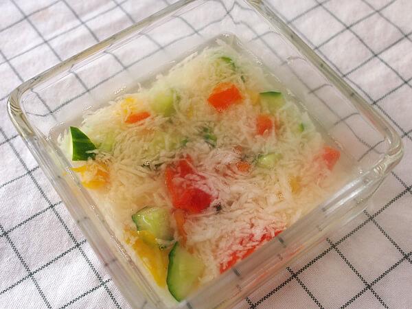 長芋の冷製スープ